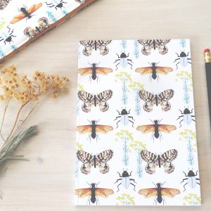 Insects Nature Print Notebook