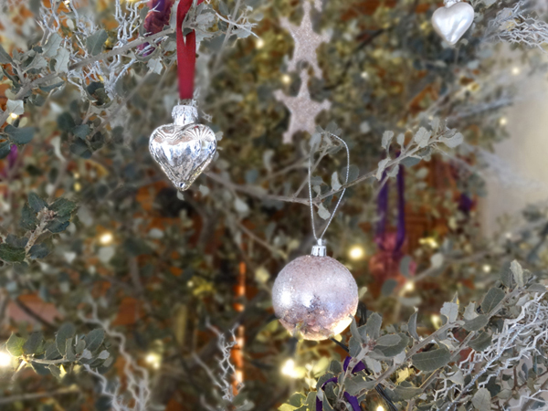 Alternative Christmas Tree and Silver Decorations