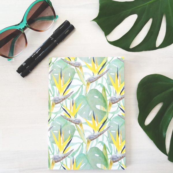 Tropical Notebook Flatlay